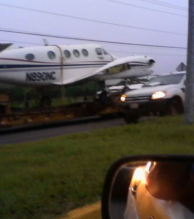 Trasladan 'narcoavión' al Aeropuerto de Chetumal