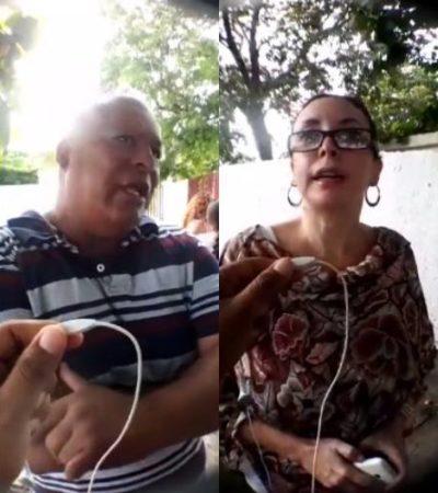 Manifestación de padres en el CAM de la Región 92 por no contratar a maestros para atención de niños especiales