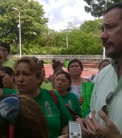 Tras manifestación, ofrece comuna regularizar invasión de capilla en Cancún