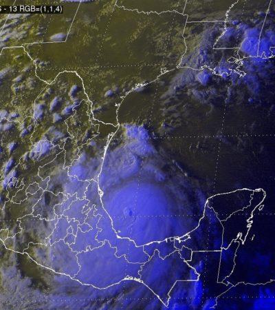 Anticipa Conagua impacto en Veracruz del huracán 'Franklin' entre las poblaciones de Vega de Alatorre y Laguna Verde