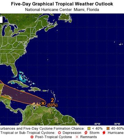 MONITOREO CICLÓNICO: Vigilan meteorológicos onda tropical sobre el Caribe