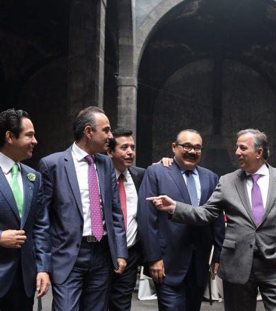 Se reúne 'Chanito' Toledo con José Antonio Meade para gestionar recursos federales dirigidos a seguridad pública y salud