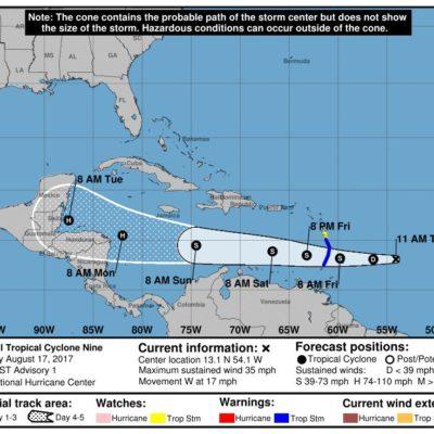 Advierten potencial formación de ciclón tropical en el Atlántico que podría afectar las costas de Quintana Roo