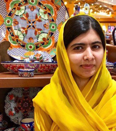 Malala pasó una noche en Cancún cuando desviaron su vuelo por el mal tiempo en la CDMX