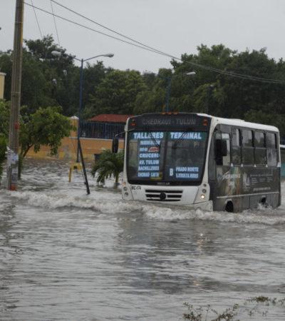 VIDEO   Dejan los remanentes de 'Franklin' calles y avenidas inundadas y ausentismo en escuelas de Cancún