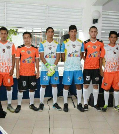 Presentan nuevos uniformes de los Tigrillos de Chetumal con promoción para Mahahual