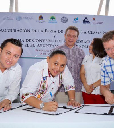 Inaugura Profeco Feria de Regreso a Clases hasta el 23 de agosto en Playa del Carmen