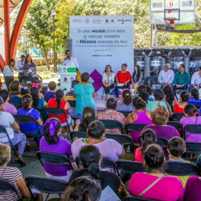 Gestiona comuna recursos para proyectos productivos familiares en Cancún
