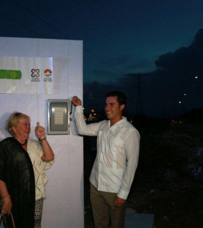 INAUGURAN ALUMBRADO EN LA AVENIDA CANCÚN: La seguridad integral es un tema primordial de la agenda municipal, asegura Alcalde