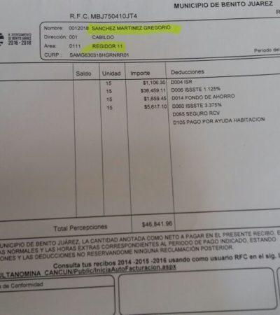 DA LA CARA POR LOS BALCONEADOS: Dice Greg Sánchez que regidores ganan $34 mil quincenales