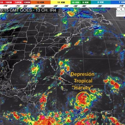MONITOREO EN EL CARIBE: 'Harvey' se degrada a depresión tropical