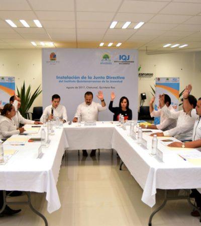 Se instala Junta Directiva del Instituto Quintanarroense de la Juventud