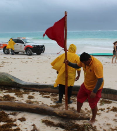 'FRANKLIN' DEJA MUCHA LLUVIA: Sin incidencia mayores en Tulum, reporta Romi Dzul