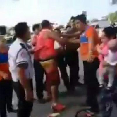 Circula video de pareja que es denunciada por usar a bebé para robar en supermercados de Cancún