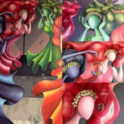 Destruye contratista mural en el Teatro de la Ciudad de Playa del Carmen