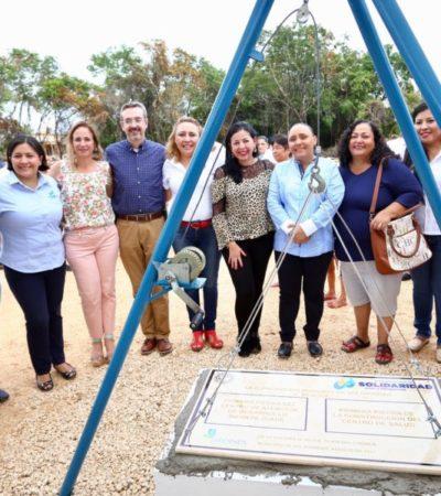 Inicia Solidaridad construcción de Centro de Salud y CADI en 'El Petén'