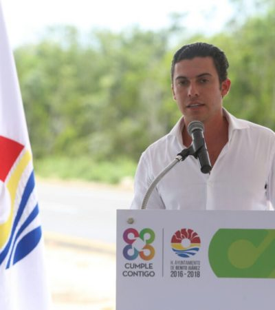 Con inversión de 21 mdp, inauguran tercera etapa de pavimentación de la Avenida Guayacán de Cancún