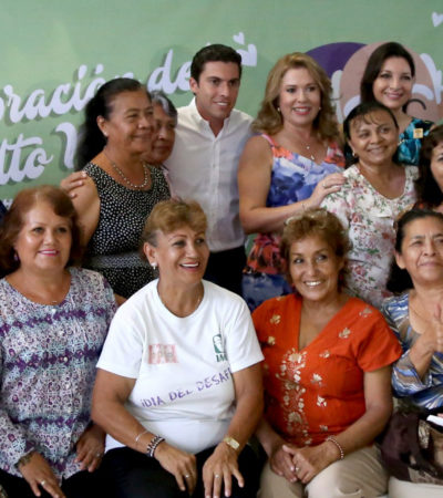 Reconoce Alcalde a los más experimentados al adelantar la celebración del Día Nacional del Adulto Mayor en Cancún