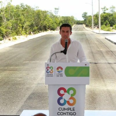 Inauguración de pavimentación de la Avenida Guayacán pone en marcha ambicioso programa de infraestructura para Cancún