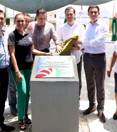 Dona Grupo Heineken a la comuna gimnasio al aire libre para beneficio de 3 mil vecinos de Puerto Juárez