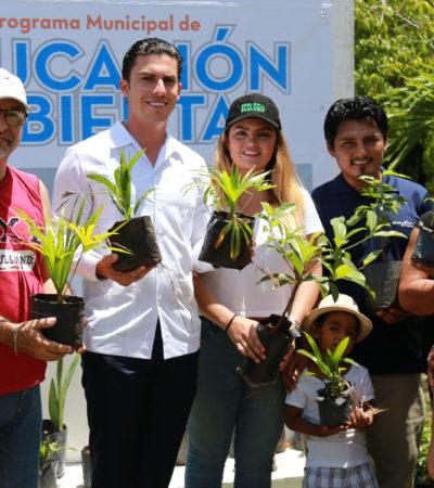 Cambian plantas por PET en Cancún para promover el cuidado del medio ambiente