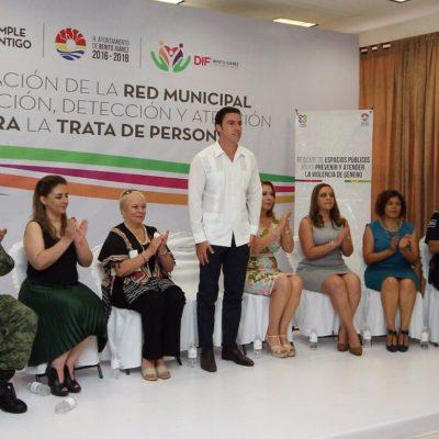 Instalan en Cancún la Red Municipal de Prevención, Detención y Atención contra la Trata de Personas