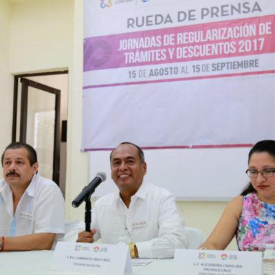 Anuncian jornada de regularización de trámites y servicios en Cancún