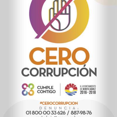 Anuncia Remberto Estrada programa municipal 'Cero Corrupción'