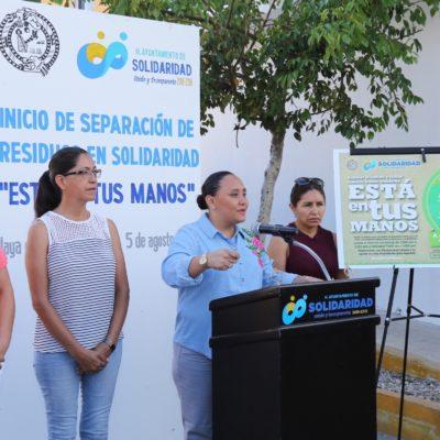 Inicia el programa de separación de residuos en Solidaridad