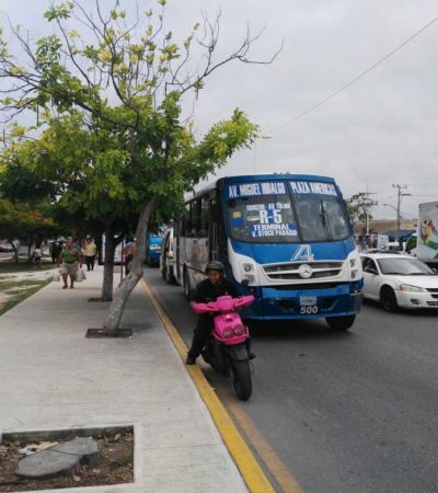 ARRANCA ESTRATEGIA DE MOVILIDAD: Implementan carriles exclusivos en la Avenida Tulum de Cancún
