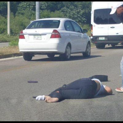 Atropellan a mujer en la carretera Playa del Carmen-Puerto Aventuras