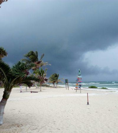 Suspenden clases en 5 municipios y reportan compras de pánico en gasolineras y comercios de Chetumal por tormenta 'Franklin'