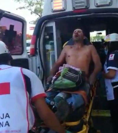 Apuñalan a una persona por resistirse a un asalto en las inmediaciones del Mercado 23 de Cancún
