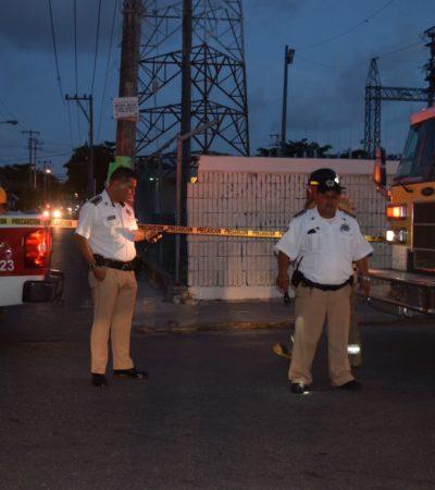 Controlan incendio en subestación eléctrica de Cancún