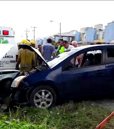 Choque deja dos heridos de gravedad en Cancún