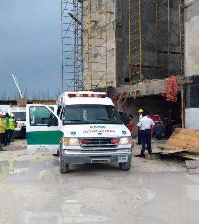 DERRUMBE EN HOTEL EN ISLA BLANCA: Colapso en obra en construcción del Palladium con saldo preliminar de 9 lesionados