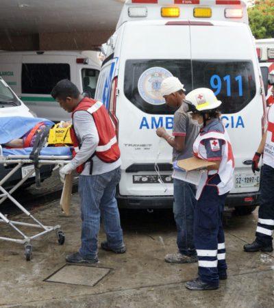 COBRA UNA VIDA DERRUMBE EN EL PALLADIUM: Muere en hospital uno de los albañiles que sufrieron desplome en obras de hotel en zona continental de Isla Mujeres