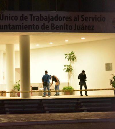 PRELIMINAR   ATACAN EDIFICIO SINDICAL EN CANCÚN: Balean a 2 personas en el Sindicato de Trabajadores del Ayuntamiento de BJ