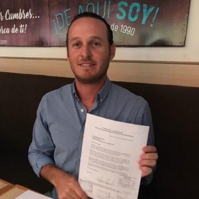 SALTA EL PRIMER ADELANTADO AL RUEDO: Renuncia Frank López Reyes a Turismo de Cancún para buscar candidatura para la presidencia municipal de BJ o a una diputación federal