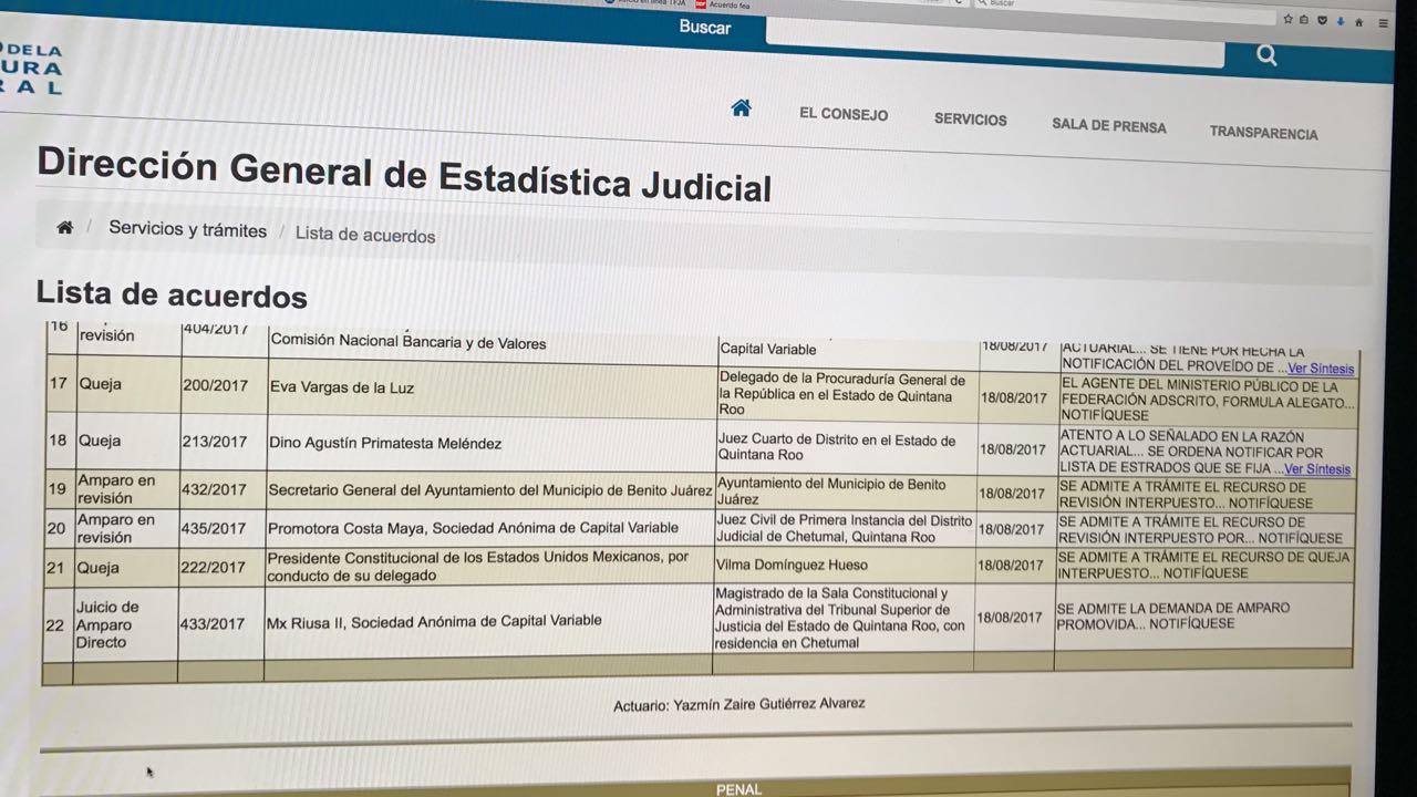 Admiten amparo promovido por RIU para sostener el PDU de Paul Carrillo en Cancún