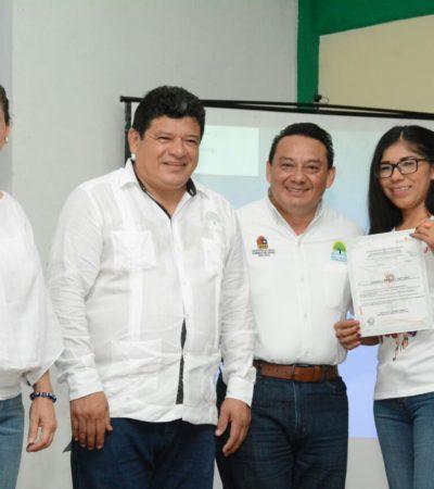 Clausuran cursos de capacitación en el ICAT en Chetumal