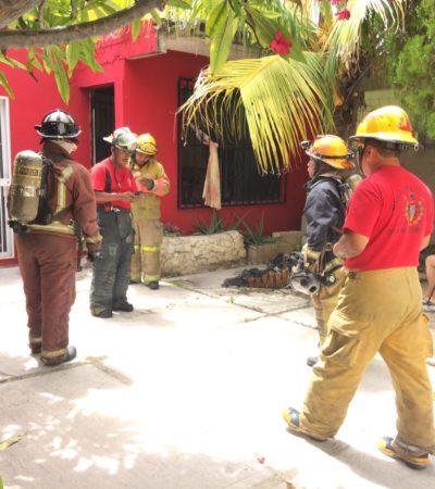 Incendio en vivienda de la Región 228 de Cancún sin víctimas