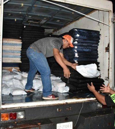 Excedente de despensas, colchonetas y cobertores en cinco municipios ante saldo blanco tras el paso de la tormenta tropical 'Franklin'
