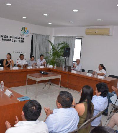Se reúne el Comité Comité Operativo Especializado en Fenómenos Hidrometeorológicos en Tulum