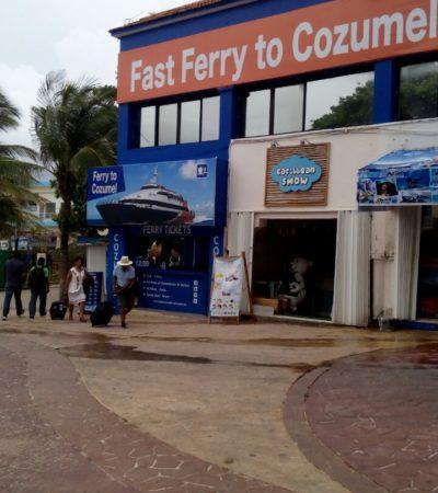 CIERRAN PUERTOS POR TORMENTA: Limitan servicio marítimo en Cozumel