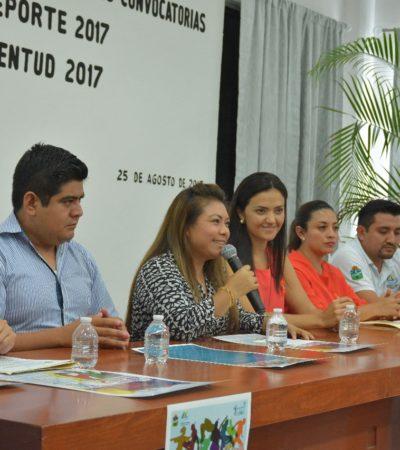 Da a conocer Romi Dzul convocatorias al Deporte y Juventud 2017