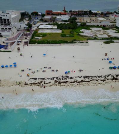 PLAYA MARLÍN, EL AZUL NO ES COMO LO PINTAN: La playa pública de Cancún arrastra carencias pese a la recertificación con el distintivo 'Blue Flag'