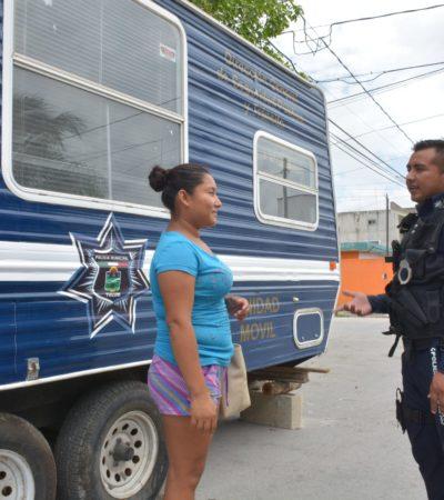 Instalan nueva caseta policial en el centro de Tulum