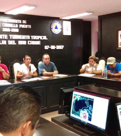 Desalojan a 80 personas de costas de Felipe Carrillo Puerto por tormenta 'Franklin'
