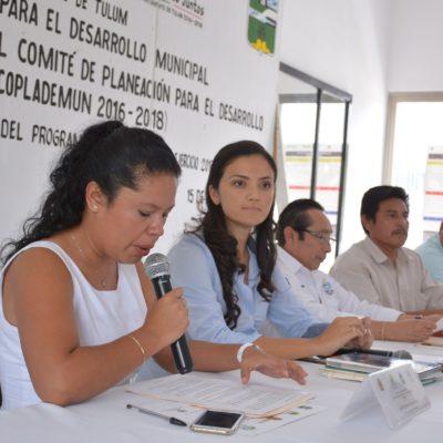 Realizan cuarta Sesión Extraordinaria del Coplademun para revisar proyectos en marcha en Tulum
